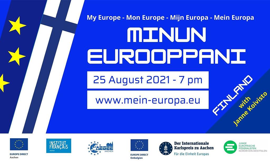 Veranstaltungsankündigung mein Europa mit dem Land Finnland